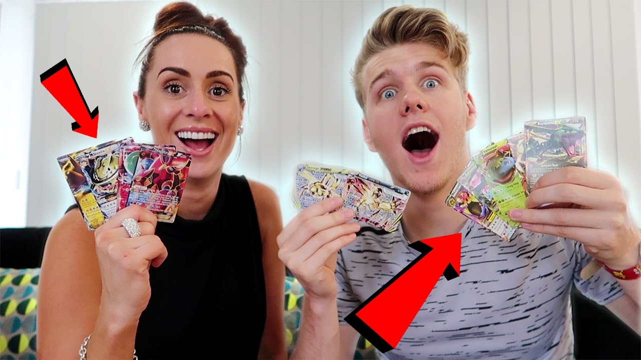 unbelievable pokemon card opening! w/ my sister - youtube