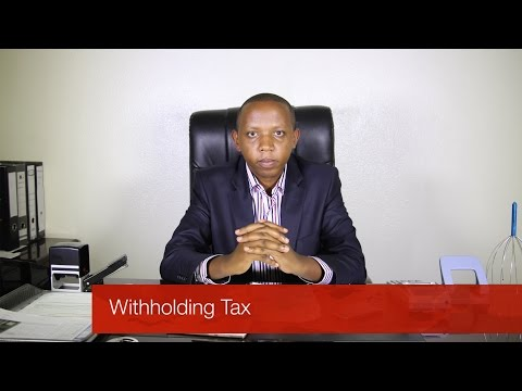 Withholding Tax - Money Matters With Wilson Kamau (@Alpha_cap)