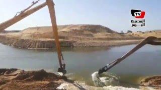افتتاح  ترعة سرابيوم لعبور المياه من قناة السويس إلى سيناء