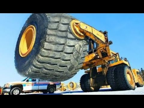 Amazing Engineering WorldWide HYPNOTIC Video Amazing Repairing $30 000 Damaged GIANT Tire - Extreme