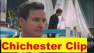 CROWHURST V. CHICHESTER, Colin Firth In THE MERCY | Sailing Movie Boat Show Clip Reaction