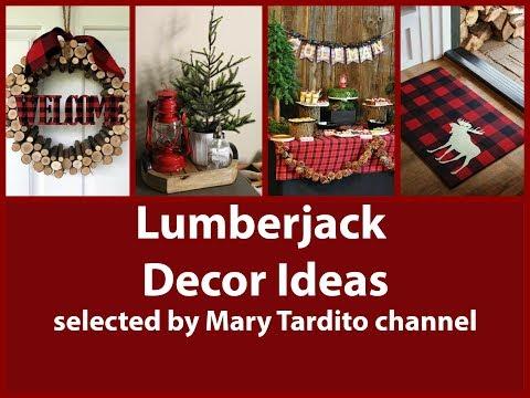 Lumberjack Decor Ideas – Woodland Home Decor Ideas – Buffalo Plaid Winter Decorating Ideas