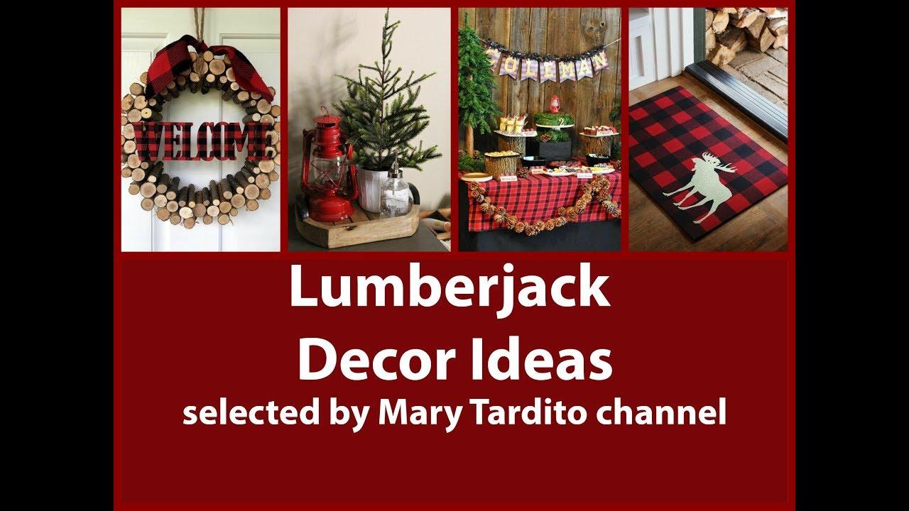 Lumberjack Decor Ideas U2013 Woodland Home Decor Ideas U2013 Buffalo Plaid Winter  Decorating Ideas