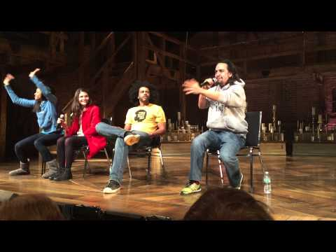 LinManuel Miranda performing the John Adams rap that was cut from the musical Hamilt Amazing