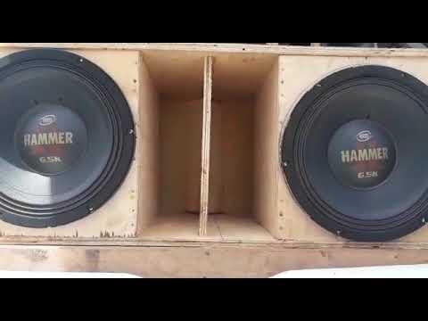 2 alto falantes Eros Hammer 6.5k tocando funk Bass 🔊🔊🔊