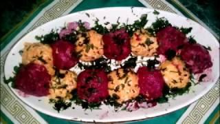 закуска овощные шарики из свеклы и моркови
