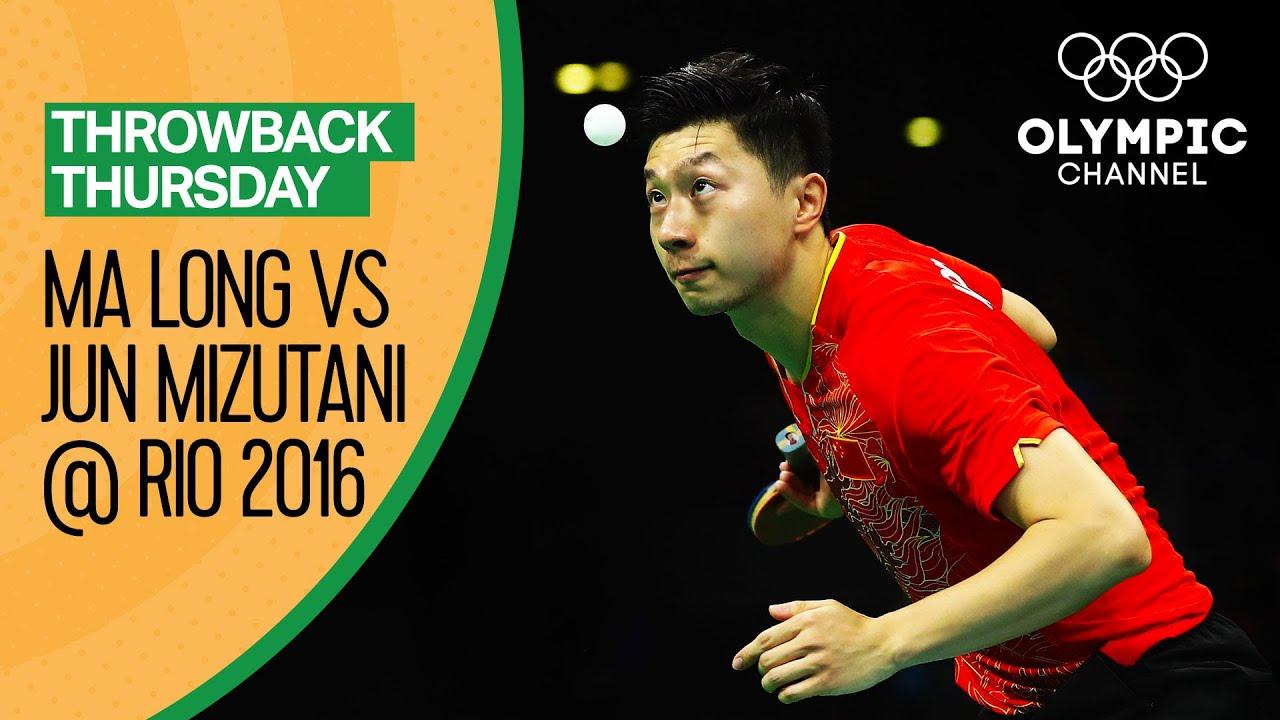 Ma Long vs Mizutani Jun - Men's Table Tennis Semi-Final at Rio 2016 | Throwback Thursday