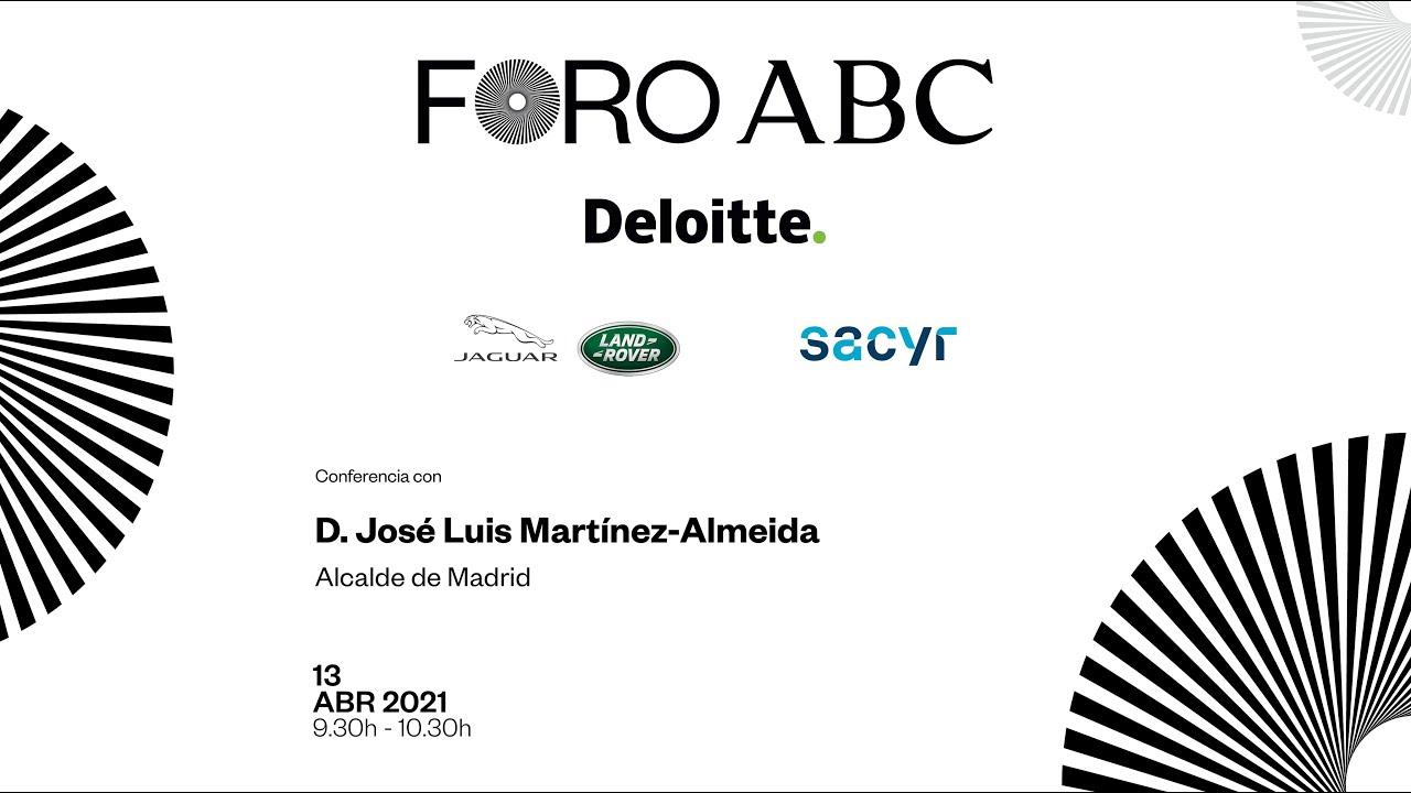 José Luis Martínez-Almeida en el Foro ABC - Deloitte