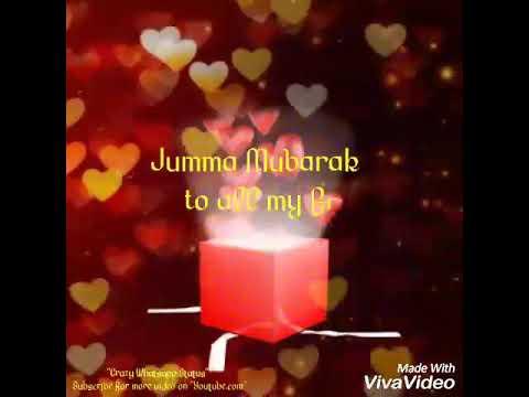 Jumma mubarak wishes whatsapp status with live text youtube jumma mubarak wishes whatsapp status with live text m4hsunfo