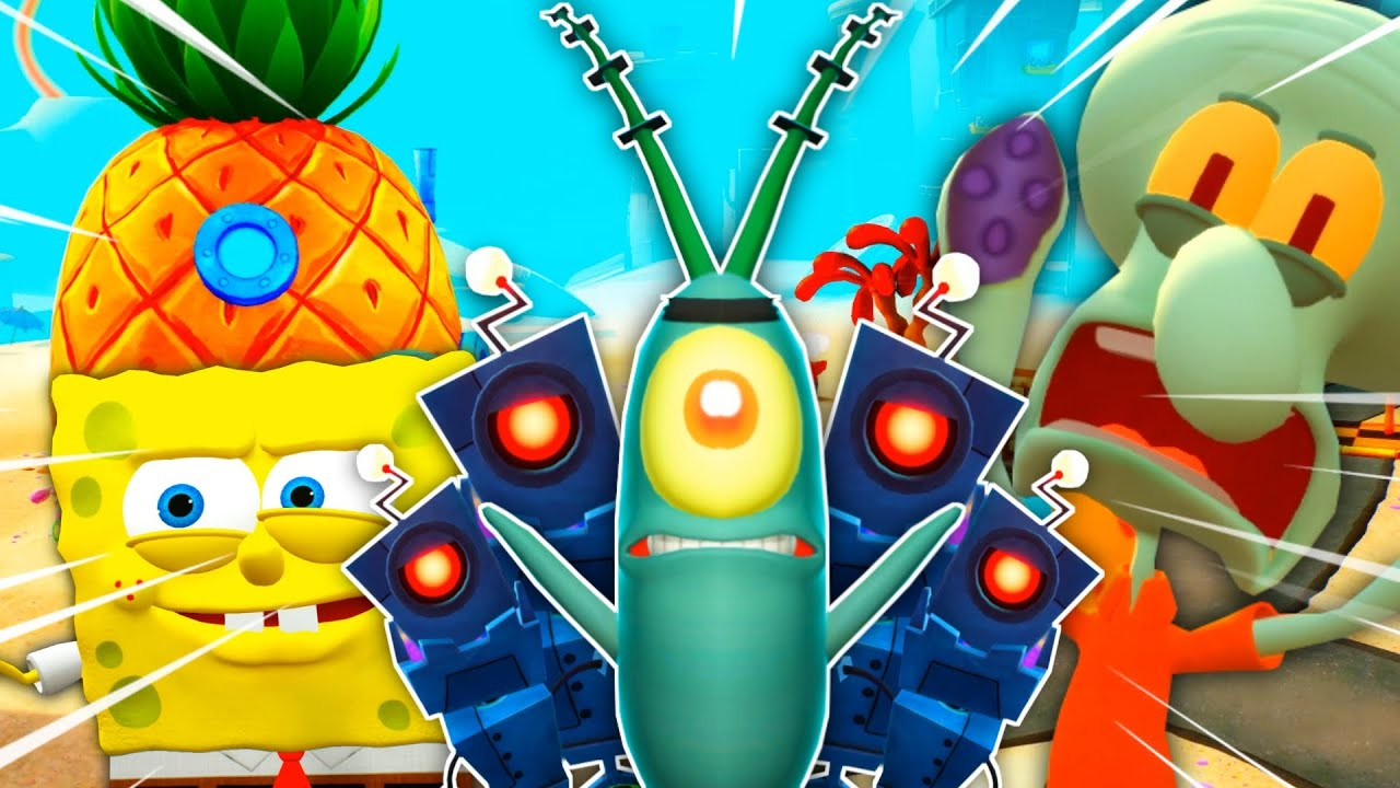BOB ESPONJA VS EJÉRCITO DE ROBOTS DE PLANKTON | SpongeBob SquarePants: Battle for Bikini Bottom #1