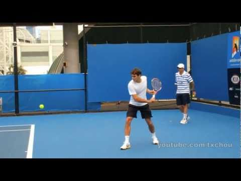 Roger Federer - Slow Motion Backhands in High Definition, Australian Open 2011