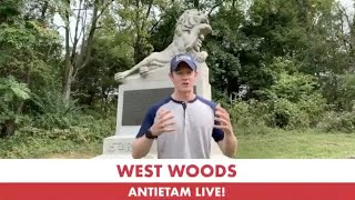 The West Woods Part 2 and The Monument to the 15th Massachusetts: 158th Anniversary of Antietam Live