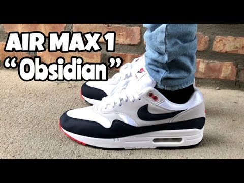 "Air Max 1 Anniversary ""Obsidian"" on feet"