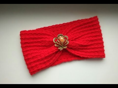 """Повязка чалма крючком для начинающих"" (Headband turban crochet for beginners)"