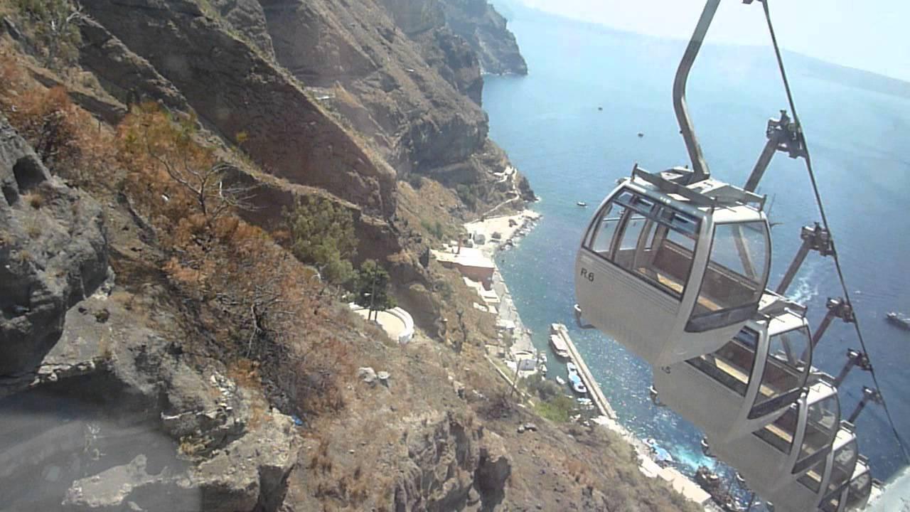 Santorini Cable Car Ride Down YouTube - Cool cars santorini