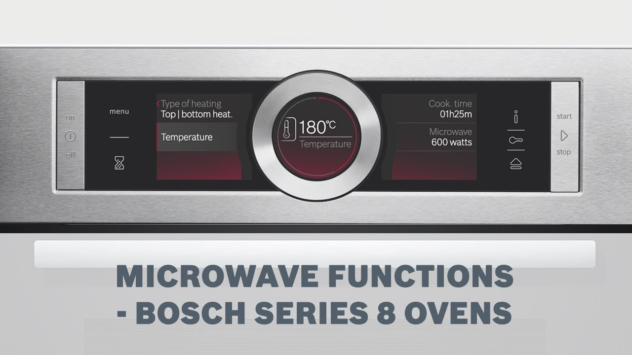 mircrowave functions bosch series 8 ovens youtube. Black Bedroom Furniture Sets. Home Design Ideas