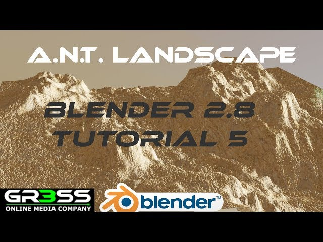 A.N.T. LANDSCAPE in BLENDER 2.8 Tutorial 5 EEVEE