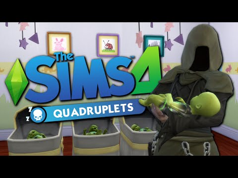 GRIM REAPER'S QUADRUPLETS - The Sims 4 Funny Highlights #45