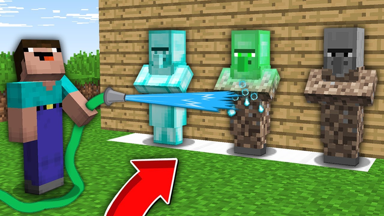 Minecraft NOOB vs PRO: NOOB WAS SHOCKED WHEN WASHED THIS RAREST VILLAGER STATUE! 100% trolling