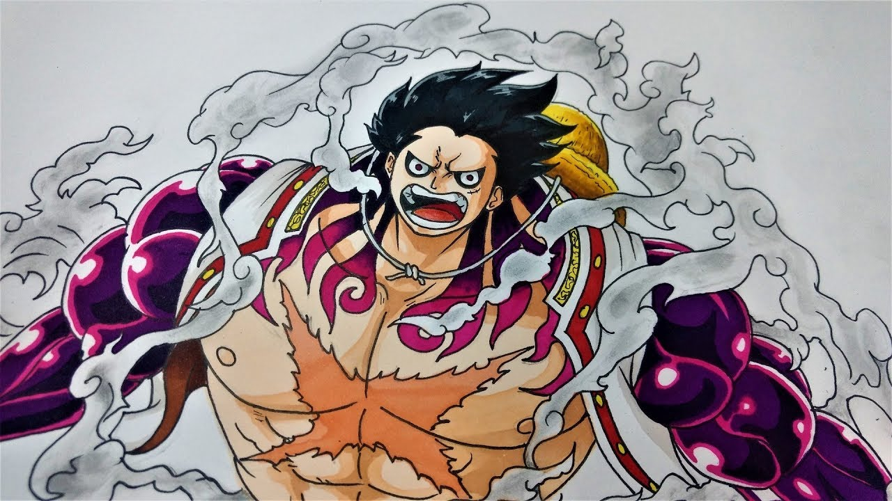 Drawing Monkey D Luffy Gear 4 One Piece