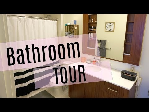 Bathroom Tour! What's In My Shower, Skincare Cabinet & More! (Non-Toxic & Organic)