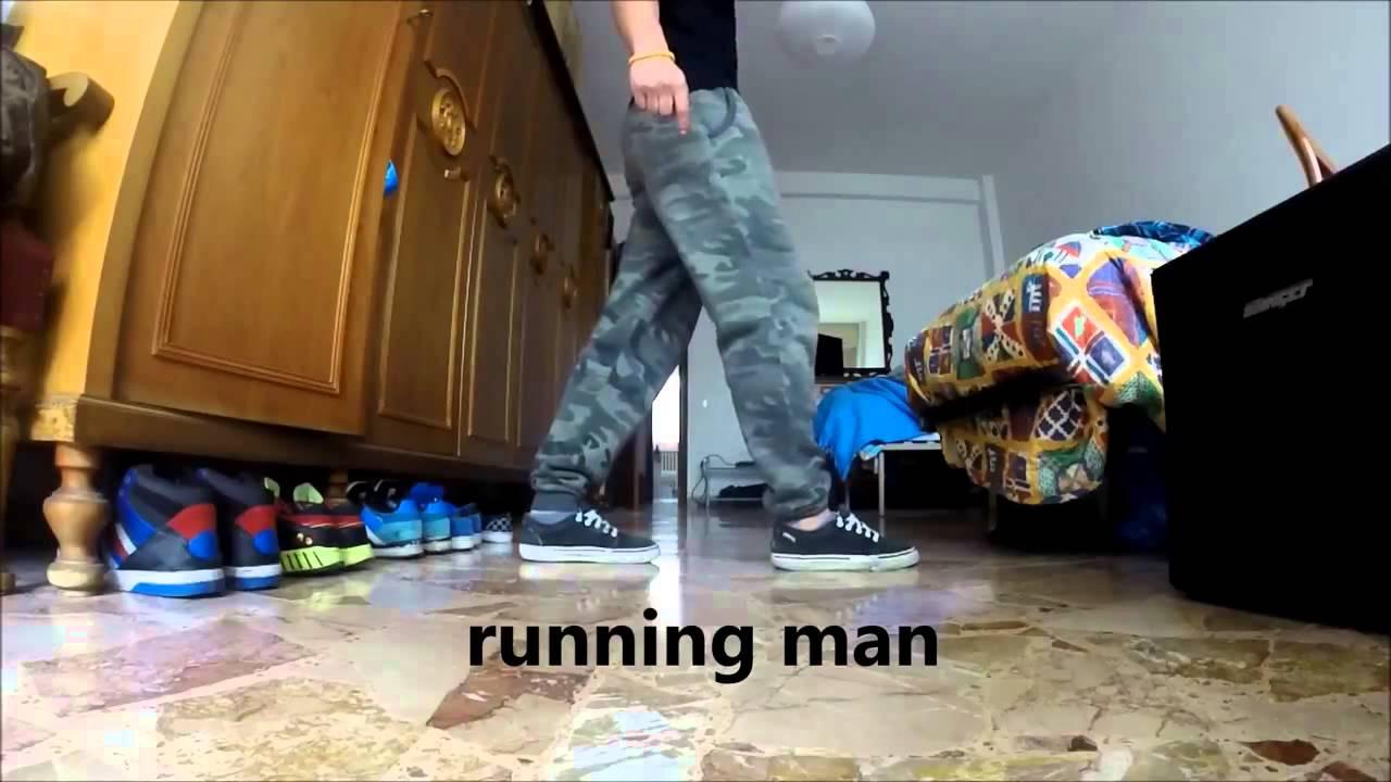 tutorial shuffle dance - cutting shapes (running man)