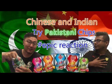Chinese and Indian Try Pakistani Chips For The First Time|Epic Reaction