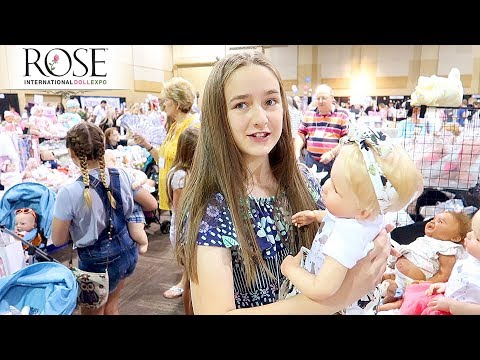 Reborn Shopping at Rose Doll Show 2019 Our First Day Shopping for Reborn Babies | Day 2