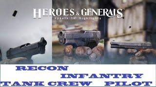 Heroes &  Generals Recon ,Infantry,Pilot!