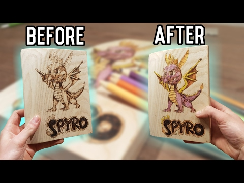 How To Wood Burn With Color