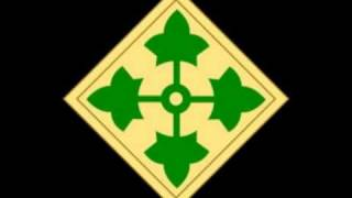 "US Army 4th Infantry Division ""Ivy Division"" ""Iron Horse"" insignia"