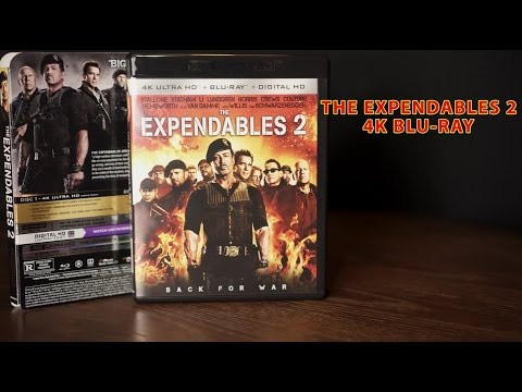 The Expendables 2 4K Bluray Review Unboxing, Dolby Atmos