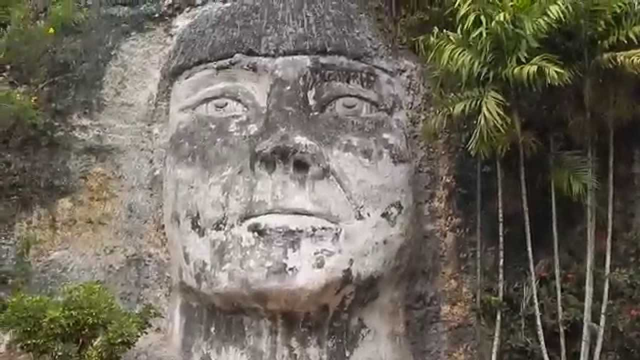 Taino Indian Chief Mabodamaca Statue Carved From Mountain
