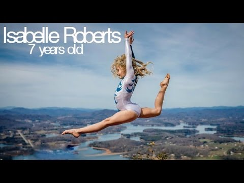 Isabelle Roberts - Amazingly flexible 7 year old gymnast!