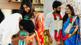 Mogalirekulu serial fame Sagar wife Soundarya baby shower photos | Tollywood Today