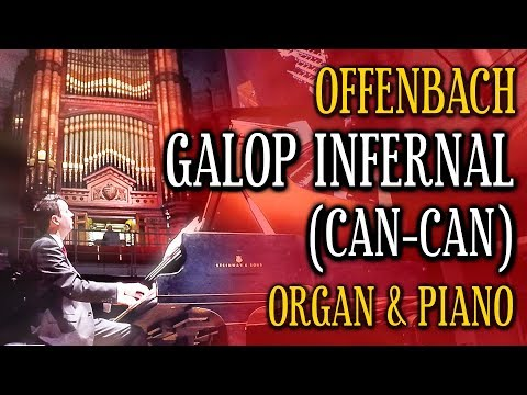 OFFENBACH - GALOP INFERNAL - CAN-CAN - ORGAN & PIANO DUO - VICTORIA HALL HANLEY