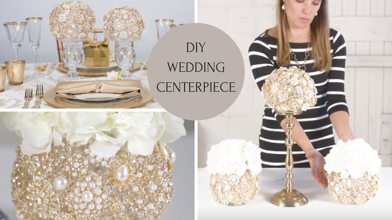Diy Wedding Centerpiece Wedding Decoration Ideas Diy Bling Centerpieces Youtube