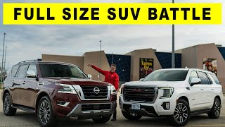 Is the Nissan Armada better than GMC Yukon AT4? Full Size SUV Comparison.