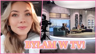 WYSTĄPIŁAM W TELEWIZJI!!!  Vlog Zza Kulis + Wasze Pytania