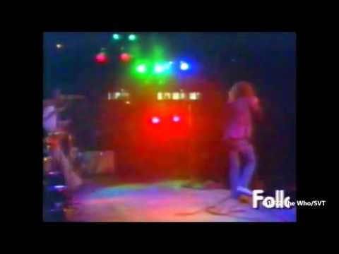 The Who at Kungliga Tennishallen in Stockholm on 23 August 1972 (Colour)