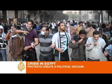 Violence ends brief truce at Egypt protest