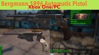 Fallout 4 Xbox One/PC Mods|Bergmann 1896 Automatic Pistol