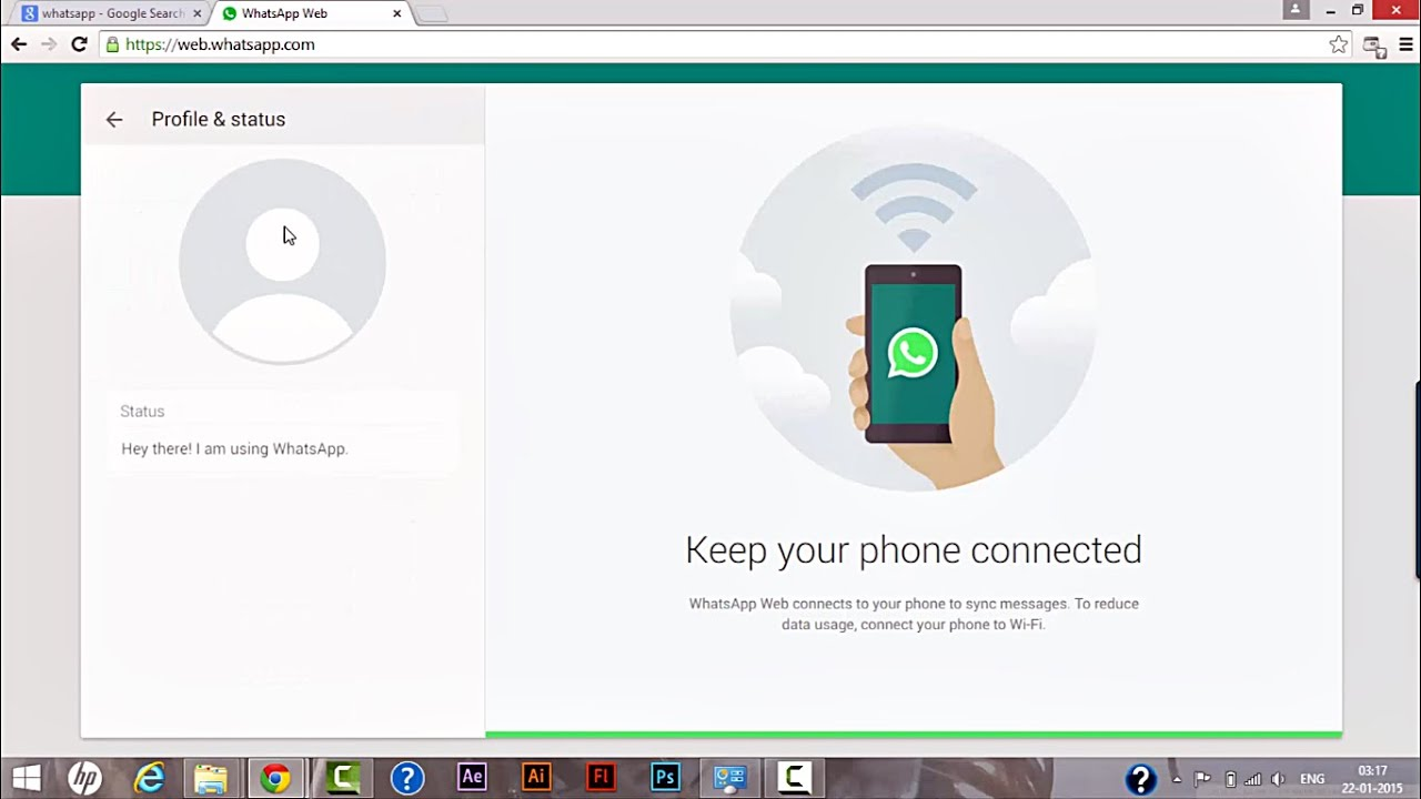 how to install whatsapp web on mobile phone