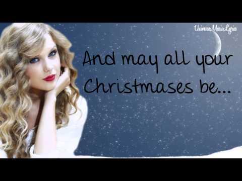 White Christmas- Taylor Swift (Lyrics Video) HD