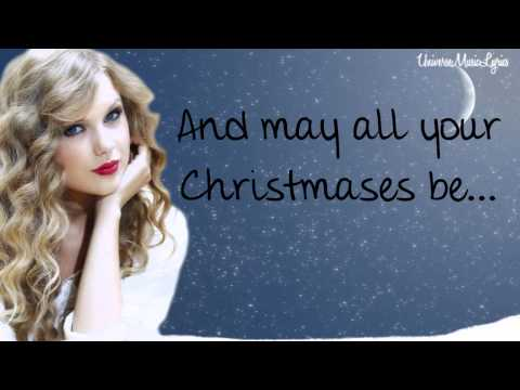 White Christmas- Taylor Swift (Lyrics Video) HD