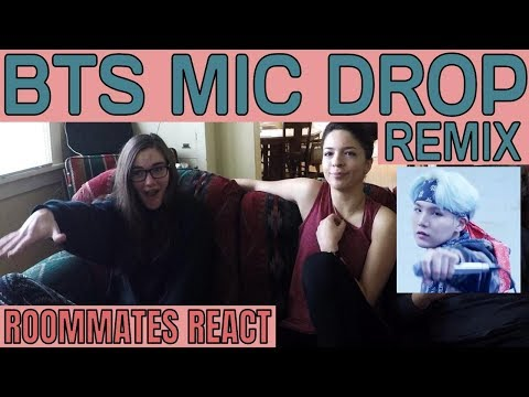 My Roommates React Part 5: BTS MIC DROP REMIX   Non Kpopper Reaction