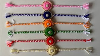 DIY | Woollen Craft Idea | Handmade Rakhi Making At Home | Rakhi For Rakshabandan