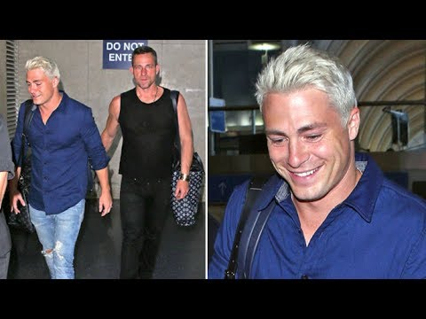 Colton Haynes Arrives In L.A. With Fiance, Says First Time 'Wasn't A Threesome'