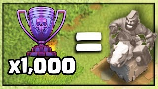 HOG RIDER Statue for Legend Trophies - Clash of Clans UPDATE Concept!