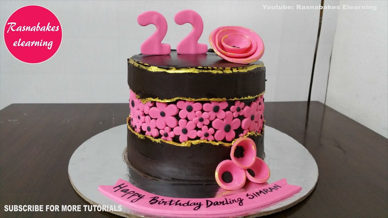 Fault Line Cake 22 Birthday Chocolate Bakery Cake Simple Design Ideas For Girls Decorating Tutorial Youtube